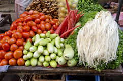 Fresh vegetarian vegetable in asia market, India. Various fresh vegetarian vegetable in asia market, India Royalty Free Stock Photography