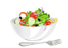 Fresh vegetarian vegetable salad Royalty Free Stock Photo