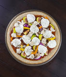 Fresh veggie pizza toppings Stock Images