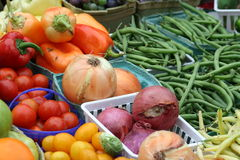 Fresh Veggies. Fresh Vegetables For Sale at the Market Royalty Free Stock Photo