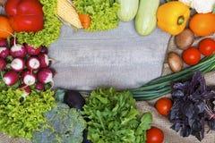 Fresh veggies background Stock Images