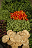 Fresh Vegtables. Fresh vegetables displayed at a market in Varanasi, India Royalty Free Stock Images