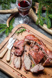Fresh venison with red wine on forester lodge Stock Images