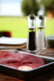 Fresh and very tasty steak Royalty Free Stock Photography