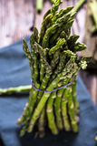 Fresh vibrant asparagus from local market Stock Photo