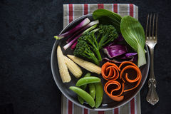 Fresh vibrant vegetables background Stock Images