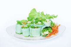 Fresh Vietnamese Spring Roll Royalty Free Stock Photography