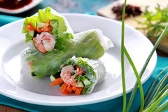 Fresh vietnamese spring roll Royalty Free Stock Images