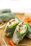 Fresh Vietnamese Spring Rolls Royalty Free Stock Images