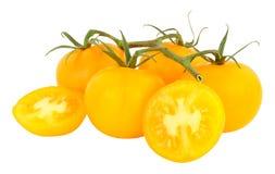 Fresh Vine Ripened Amber Tomatoes Stock Photo