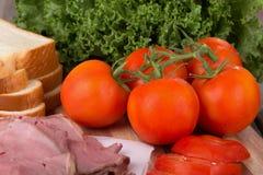 Fresh Vine Tomatoes Stock Photos