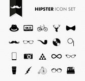 Fresh vintage hipster icon set. Stock Photos