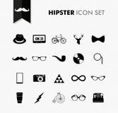 Fresh vintage hipster icon set. stock photos