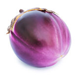 Fresh violet eggplant. Isolated on a white background Royalty Free Stock Photo