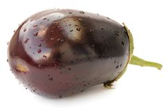 Fresh violet heirloom eggplant isolated Stock Photo