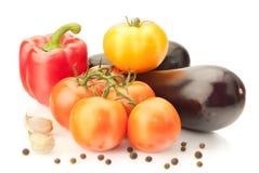 Fresh vitamin background with aubergine Stock Photo