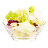 Fresh vitamins salad in glass bowl Royalty Free Stock Images