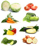 Fresh and vitamins vegetables Stock Photos