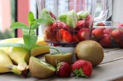 Fresh Vivid Smoothie Ingredients Royalty Free Stock Images