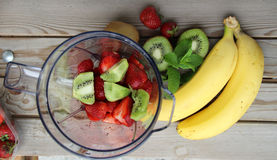Fresh Vivid Smoothie Ingredients Stock Photo