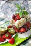 Fresh Vivid Smoothie Ingredients Stock Images