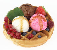 Fresh Waffle Royalty Free Stock Photos