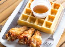 Fresh waffle Stock Image