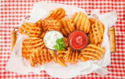 Fresh Waffle fries royalty free stock photos