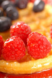 Fresh waffle with fruit Royalty Free Stock Photography