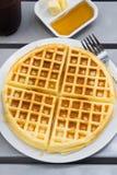 Fresh waffle Stock Photo