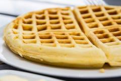 Fresh waffle Stock Photos