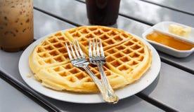 Fresh waffle Royalty Free Stock Photos
