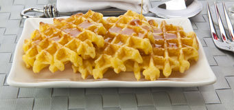 Fresh Waffles Royalty Free Stock Image