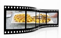Fresh Waffles Film Strip Stock Photos