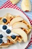 Fresh waffles Royalty Free Stock Photo