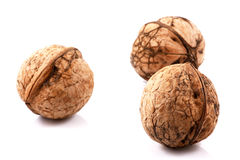 Fresh walnuts. On white background Stock Photo