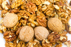 Fresh walnuts Stock Photos