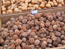 Fresh Walnuts. Walnuts are rich in Omega3 Stock Photos