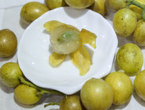 Fresh wampee fruit Stock Photography