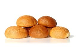Fresh and warm rolls Stock Images