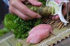 Fresh wasabi Stock Photography