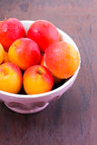 Fresh, washed apricots. In a bowl Stock Photography