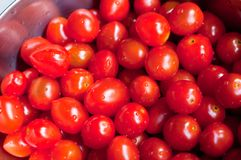 Fresh Washed Cherry Tomatoes Stock Image