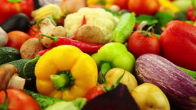 Fresh Washed Vegetables stock footage