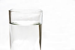 Fresh water in 1 glass. Fresh water, vodka, whiskey, soda, gin in 1 glass stock photos