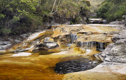 Fresh Water. In a creek at Ibitipoca State Park, Minas Gerais State, Brazil stock photography