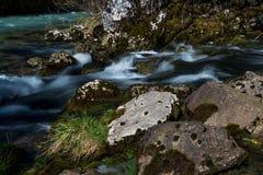 Fresh Water Of An Alpine River. Fresh Clear Water Of An Alpine River royalty free stock image