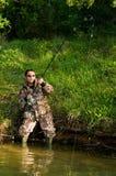 Fresh water angler royalty free stock image
