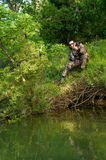 Fresh water angler royalty free stock photos