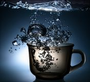 Fresh Water With Bubbles Royalty Free Stock Image